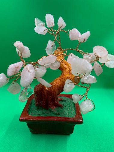 "Дерево ""Любви, Счастья,Семейного очага"" с кристаллами розового кварца"